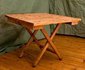 Small tabletops suitable for converting stools into tables.